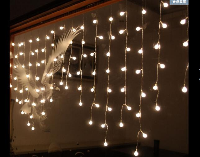 cheap 2m 1m104led ball light string christmas lights arranged wedding birthday party arranged marriage room curtains string lights patio string lights - Christmas Light String