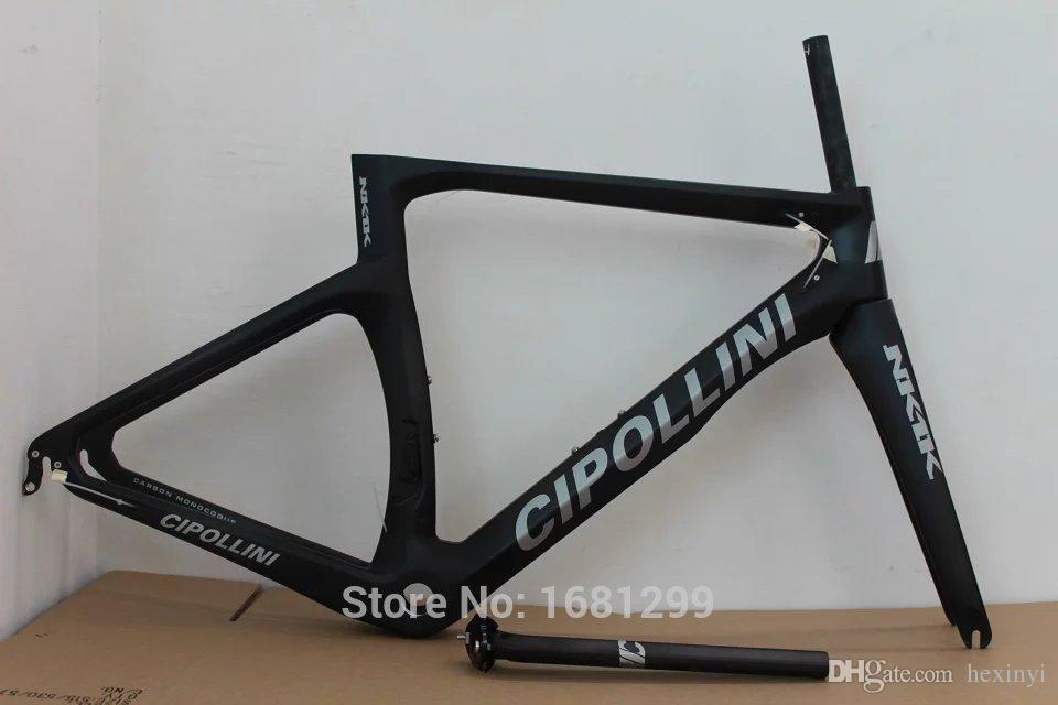 Nuevo es NK1K 700C Bicicleta de carretera mate 3K de fibra de carbono completa cuadro de bicicleta tenedor de carbono + tija de sillín + abrazadera + piezas auriculares envío gratuito