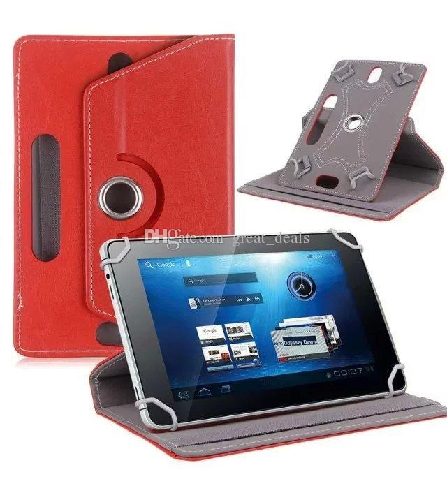Universal 7 inch Tablet PC Case 360 Degree Rotating Case PU Leather Stand Cover 7 inch Folding Folio Case by DHL
