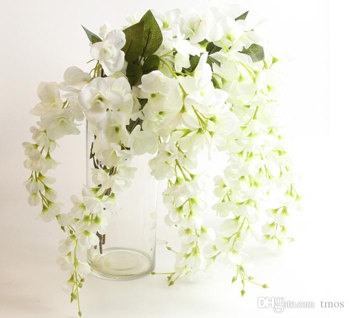 New Fashion Home Party Wedding Garden Floral Centerpieces Decoration Romantic Artificial Wisteria Vines Silk Wisteria Garlands Flower