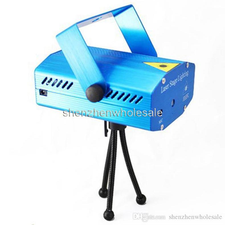 Vente de vacances Bleu Mini Laser Stage Lighting 150mW Mini GreenRed LED Laser DJ Party Stage Lumière Noir Disco Dance Floor Lights