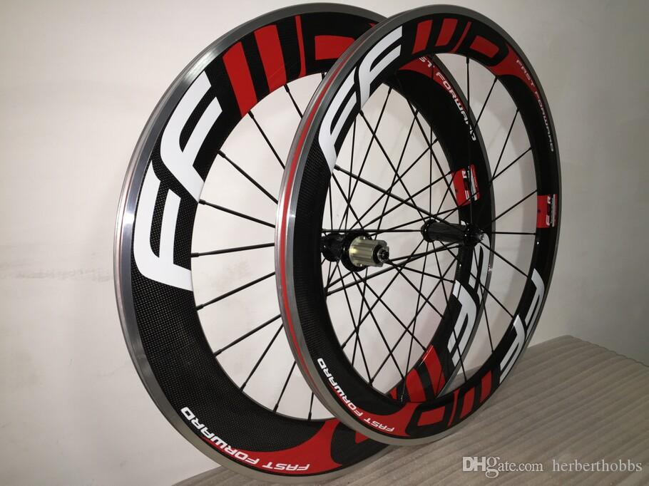 ffwd 60mm+ 88mm Alloy Brake Clincher Carbon Wheelset Road Racing Carbon Wheelsets Clincher Bicycle Wheels Wheelset