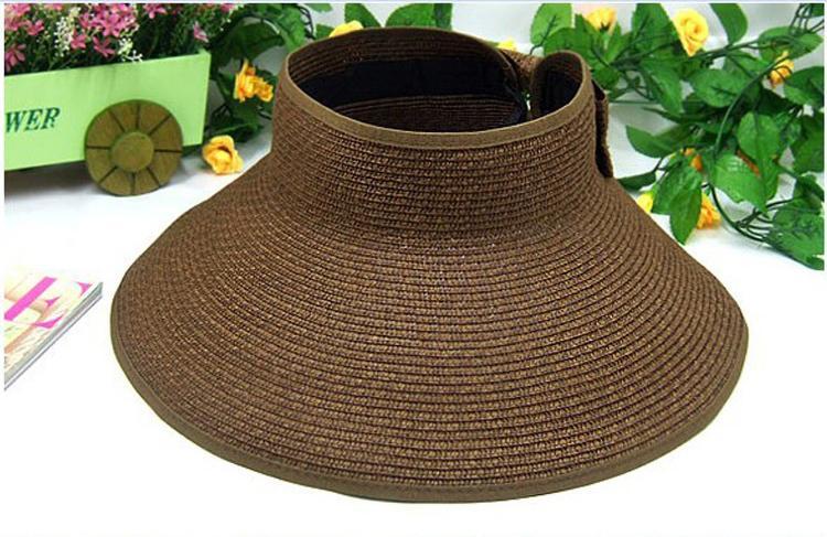 PrettyBaby Yeni Moda 2016 katlanabilir geniş ağız sunbonnet roll up güneş vizör şapka Yaz Straw Güneş şapka plaj kadınlar ve çocuklar için çok renkli