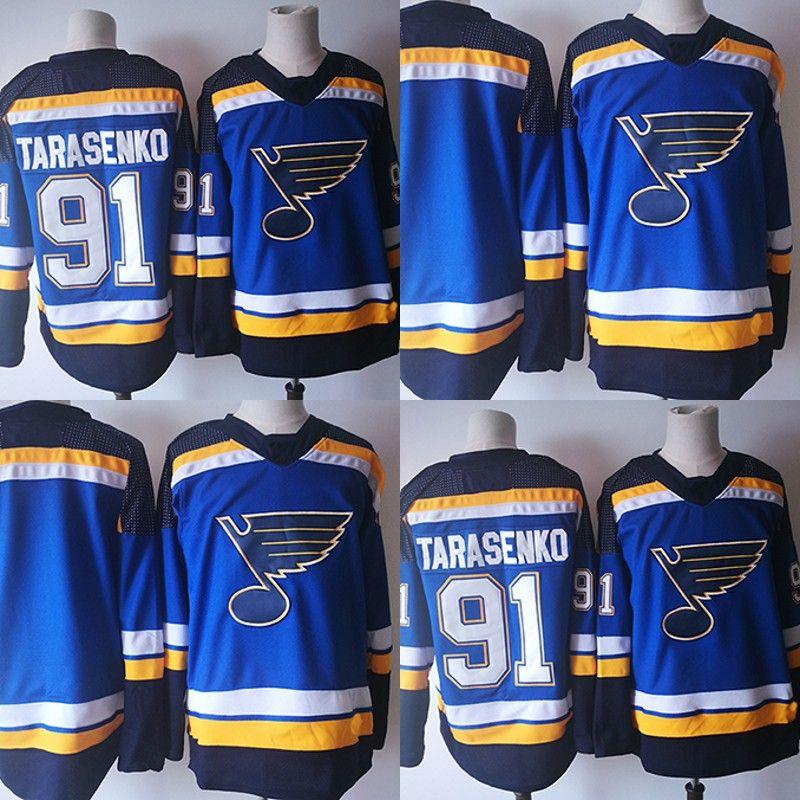b85819b76 ... clearance 91 vladimir tarasenko 2017 2018 season new st. louis blues  jerseys stitched men blue