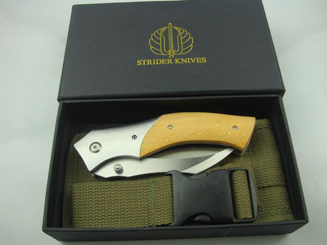 High End Strider Mick Karambit Messer D2 61HRC Satin Finish Klinge Ebenholz Griff Liner Lock Outdoor Überleben taktische Klappmesser Messer