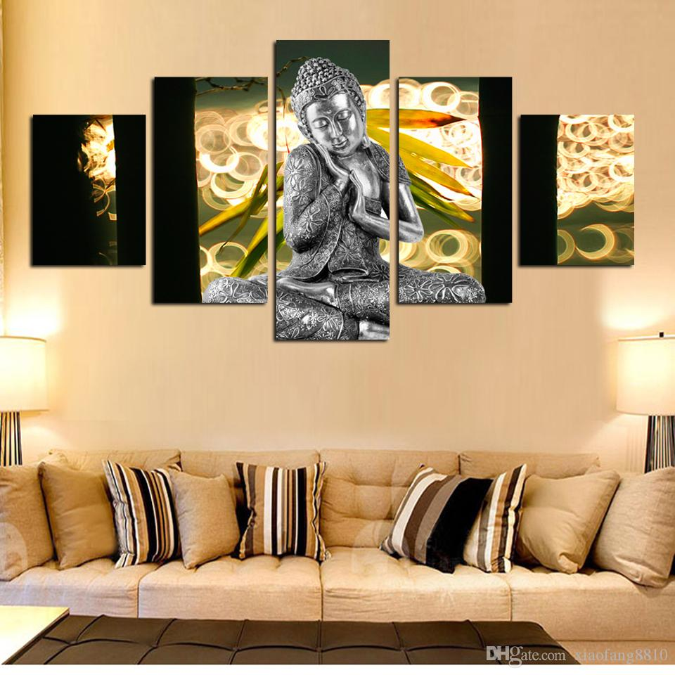 2018 Wall Art Buddha Painting On Canvas Abstract Print Pictures ...