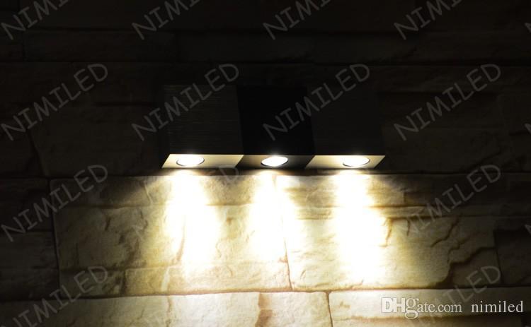 nimi964 9W светодиодный настенный светильник фон огни крыльцо огни балкон проходу коридор лестницы поверхность дорожки, установлены алюминиевые лампы освещения