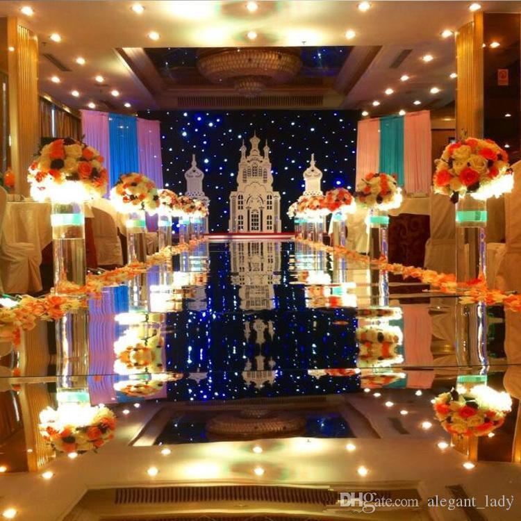 2018 Luxury Wedding заставок Decor Зеркало Ковер Gold Silver Double Side Aisle Runner для партии украшения сада