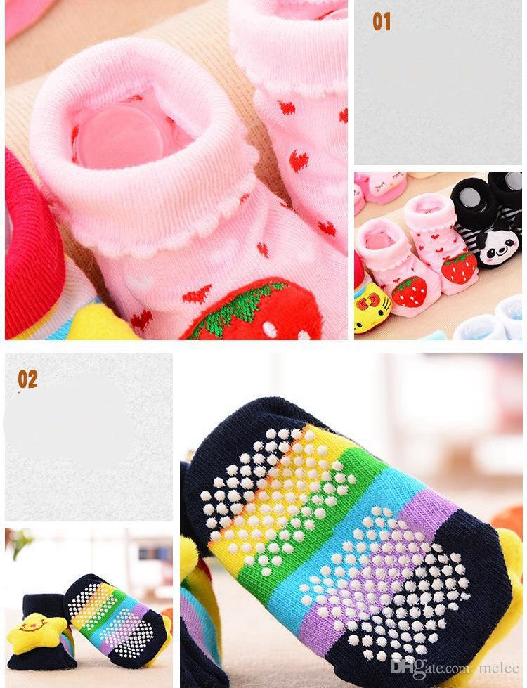 Baby-Tier-3D Socken-neugeborenes Baby-Jungen-Mädchen-im Freien beschuht Säuglingsmädchen-Gleitschutzgehenschuhe Kind-warme Socke scherzt Geschenk wählen