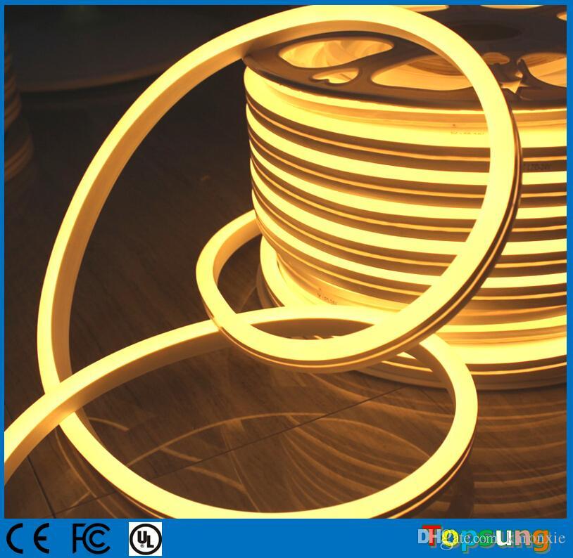 50 м катушка низкого напряжения 12v мини светодиодный неоновый свет веревка 8.Прокладка 5x17mm 2835 SMD супер яркая водоустойчивая для напольных multi цветов