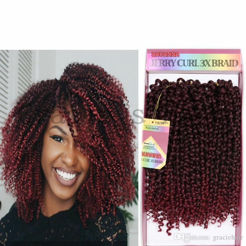 2018 10inch Synthetic Hair Extensions Crochet Braids Freetress Jerry