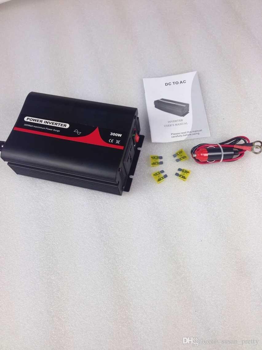 300w Car Powr Inverter Pure Sine Wave With Cigar Lighter Dc Ac On 5000w Online 10164 Piece