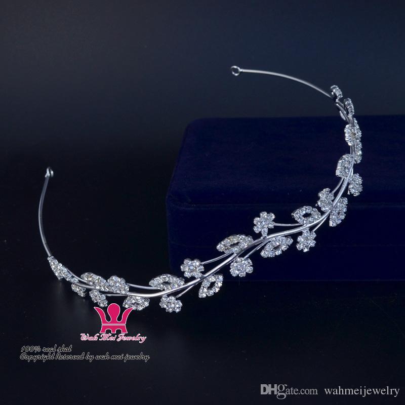 Headband do cristal de rocha Acessórios Para o Cabelo Nupcial Do Casamento Tiaras Coroas Guirlanda Princesa Flor Meninas Bonitas Grécia Partido Performance Show 01509
