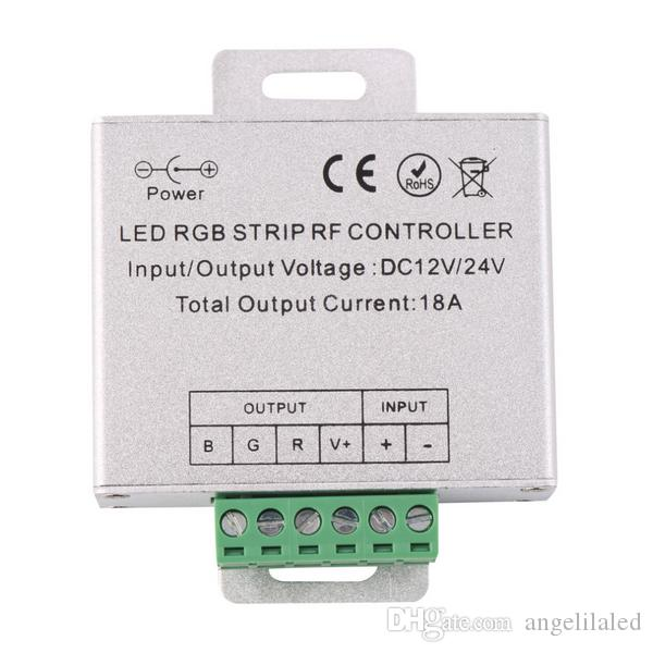 12V/24V RGB Controllers Wireless RF RGB Led Strip Light Touch Dimmer Remotely Controller, Remote Control for RGB LED lighting