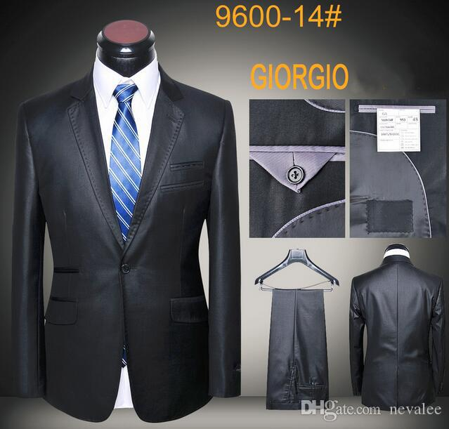 9647cffc9 2019 Brand Suit Black Gray Latest Coat And Pants Designs Tuxedos Men Slim  Fit Suits Set Business Blazers From Nevalee, $86.3 | DHgate.Com