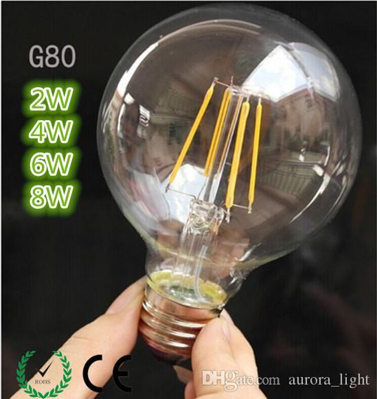 best ynl antique retro vintage g80 led edison bulb e27 led bulb filament light 220v glass bulb lamp 2w 4w 6w 8w candle light lamp candelabra led bulbs 168