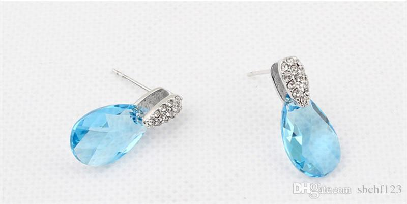 Austrian Crystal Water Drop Earrings For Womens Make With Swarovski Elements Designer High Quality Dangle Earrings 5814
