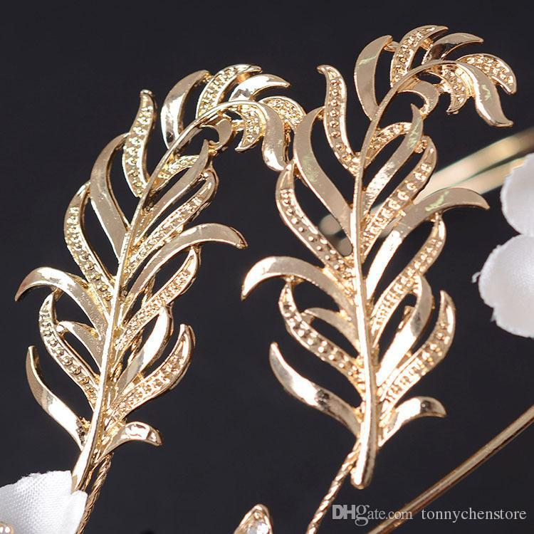 CHENLVXIE Cheap Bridal Hats Tiaras Headband Hair Flowers Wedding Hair Accessories For Bride High Quality