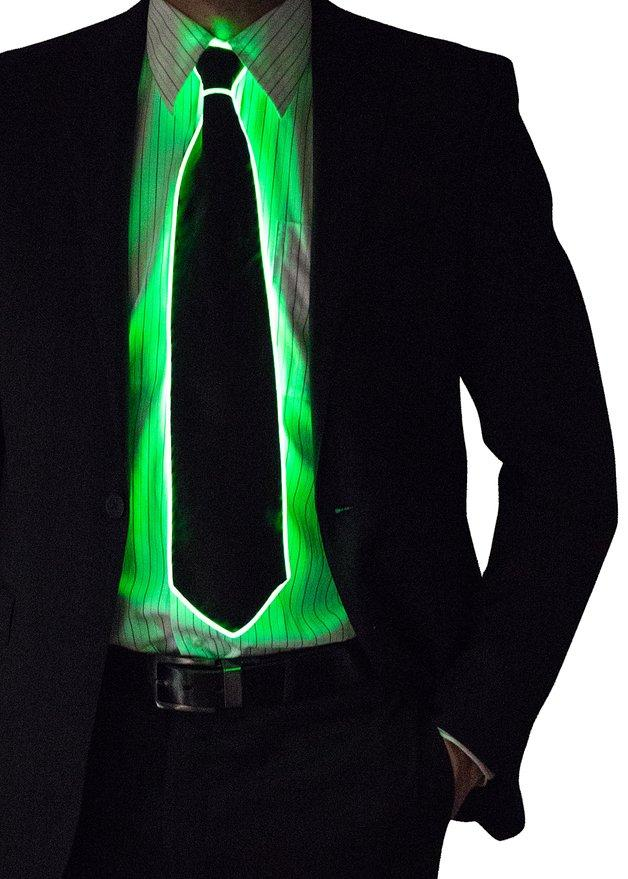 Néon LED Cravate pour l'homme Éclairage Cravate de cou pour hommes pour la fête Afficher 10Couleurs disponibles Livraison Gratuite