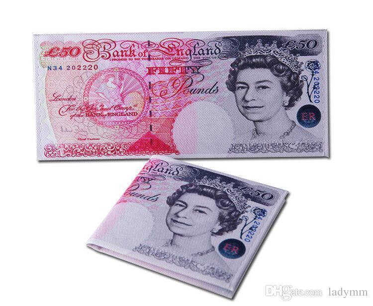 Exportações de Moda Novo design dos homens carteiras diferentes euro dólar padrão de impressão chique bolsa carteira Presente Presentes para homens e estudantes
