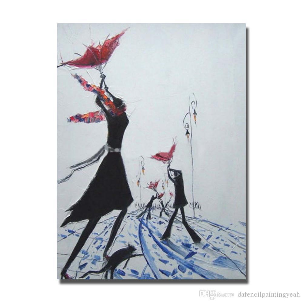 Acheter Homme Et Femmes Peinture Abstraite Salon Décoration Main Peinte Peinture à L Huile Moderne Sur Toile Peinture Murale Décorative Aucun Encadré