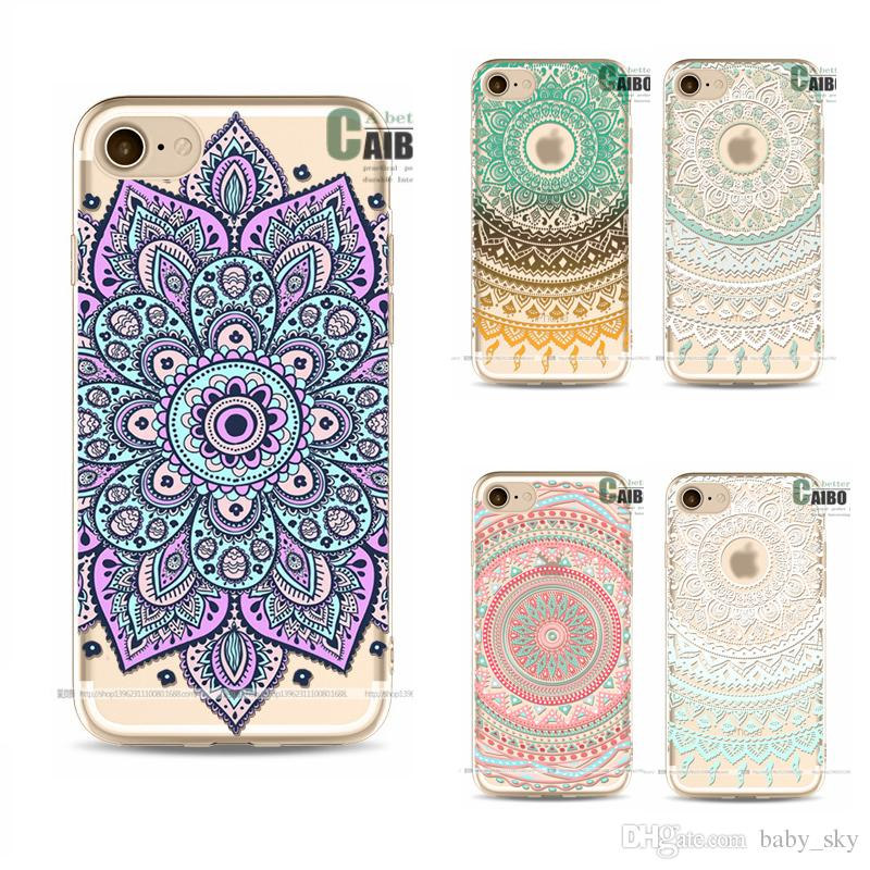 Phone Case For Iphone Ed Drawing Flower Tpu Mobile Protect Shell