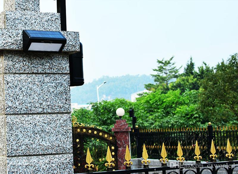 Solarbetriebene Licht Außen Mikrowelle Radar Sensor LED Wandleuchte Garten Lampe ABS + PC Abdeckung 1000lm Wasserdichte Birne