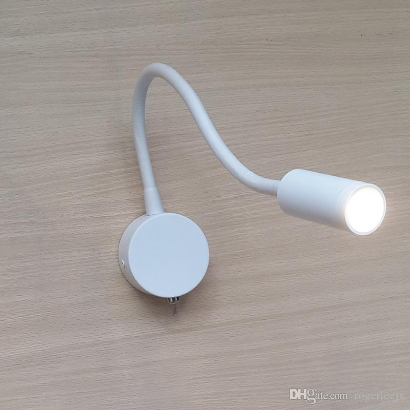 Topoch Blanc Wall Lights pour lampe de lecture de chevet 30 degrés Feuille d'aluminium forte 360mm 3W LED 200LM Éclairage de camper