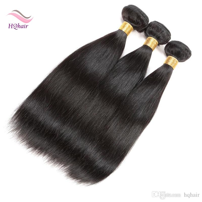 Unprocessed Virgin Malaysian Human Hair Wefts Straight Remy Hair Weave Indian Peruvian Brazilian Mongolian Hair Extension Natural Color