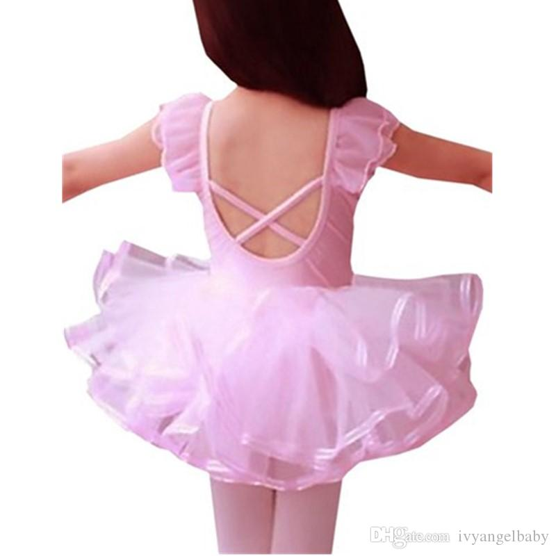 Little Girls' Short Sleeve Tiered Tutu Ballet Party Dresses Baby Tollder Girl Consplay Dance Dress 2-6Y