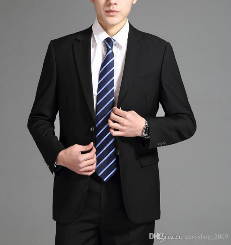 Custom Made two Button Groom Tuxedos Wedding Suit for men Groomsman Suit Boys Suit Jacket+Pants Bridegroom Suit