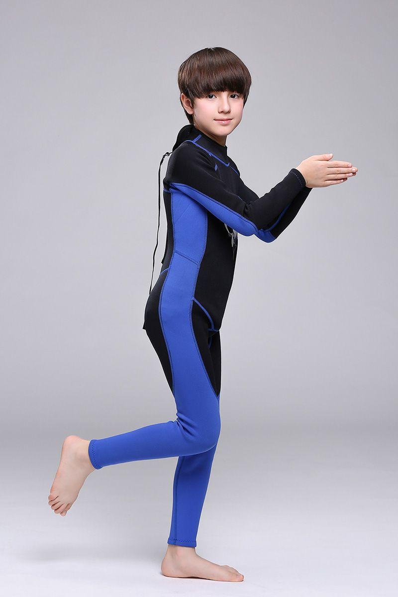 New arrival 2mm neoprene Kids long sleeve wetsuit boys scuba diving suit girls surfing snorkelling suit
