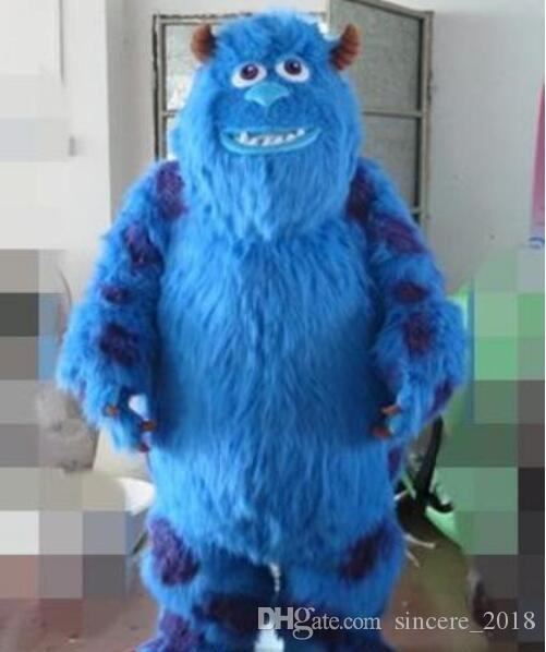 6349d823fa Hot Sale Adult Monster Inc Sulley Mascot Costume For Adult With One Mini  Fan Inside The Head Animal Mascot Costumes Cheap Superhero Mascot Costume  From ...