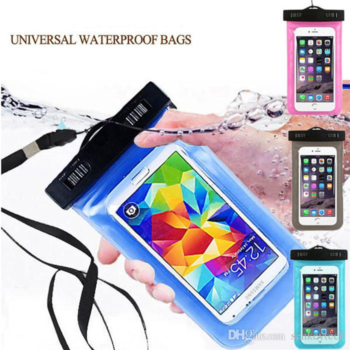 promo code 6f543 76d89 AAA Quality Clear Waterproof Pouch Dry Case Cover For Diving Swimming  Sports For 4.8-6.0 inch Phone Camera Mobile phone Waterproof Bags
