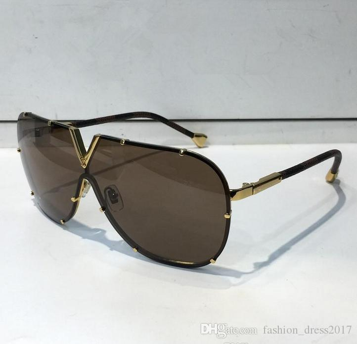 Fashion Brand Full Frame Sunglasses For Men Women Z0926E UV Protection Black Brown Mirror Lens Color Plated Frame Come With Box
