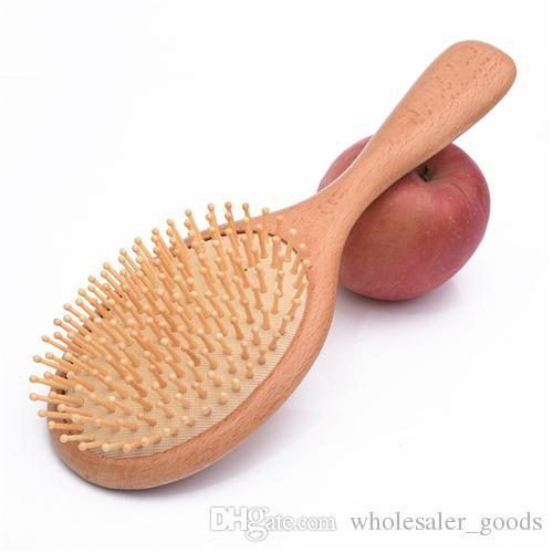 Bamboo Hair Vent Brush Soins Des Cheveux Et Beauté SPA Masseur Peigne Salon Styling Proffessional Barber Coussin En Bois Brosse À Cheveux Bamboo Peigne