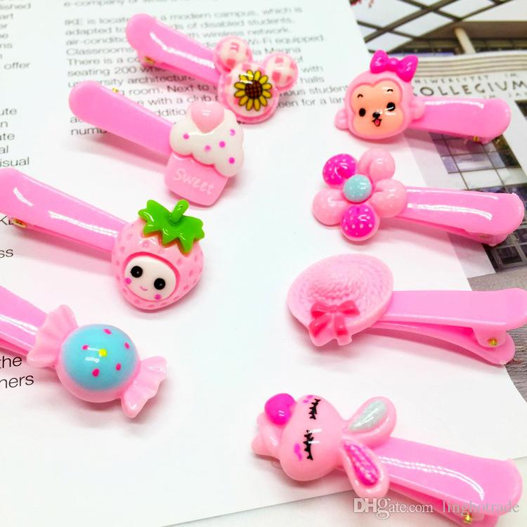 Children Headwear Candy Hairpin For Baby Girls Fashion Kids Hair Clips Flower Barrettes Fruit Shaped Boutique Heart Bobby pin