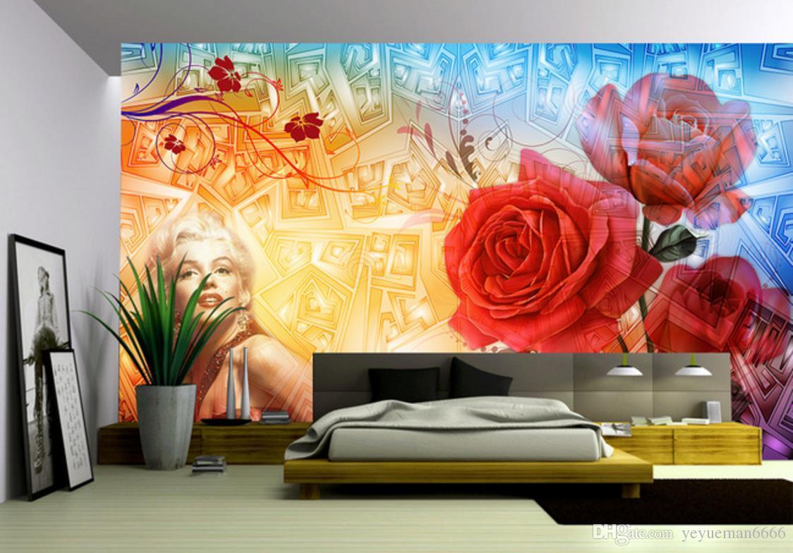 Papel de parede 3d personnalisé rétro papier peint pour murs 3 d salon chambre arrière-plan mur roses européenne