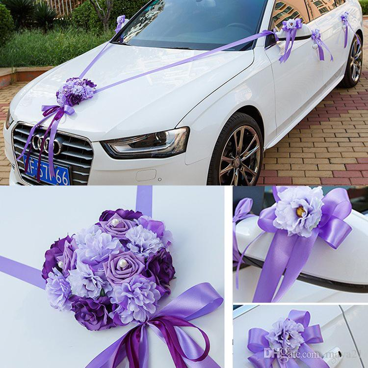Wedding Car Ribbon Married Decorations Bridal Decoration Flowers Set Ideas Green Online Flower Delivery From