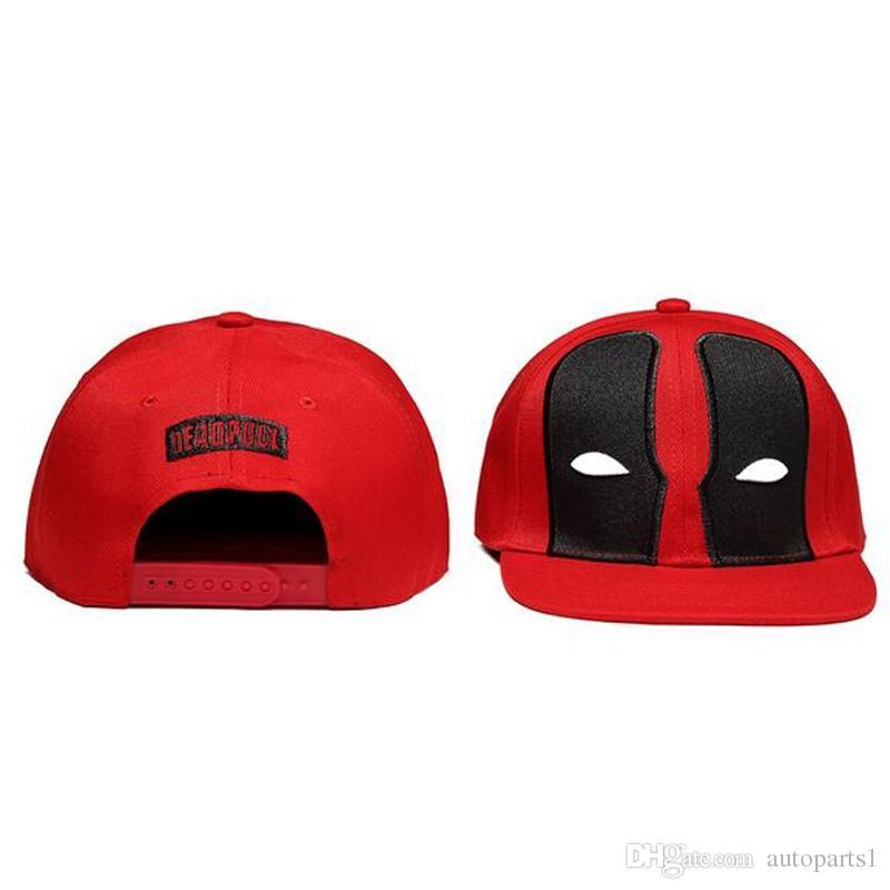 Hop Cap trajes de moda cómic de Marvel Deadpool Sombrero del Snapback de hueso Aba Reta algodón béisbol Para Hombres Mujeres Deportes cadera