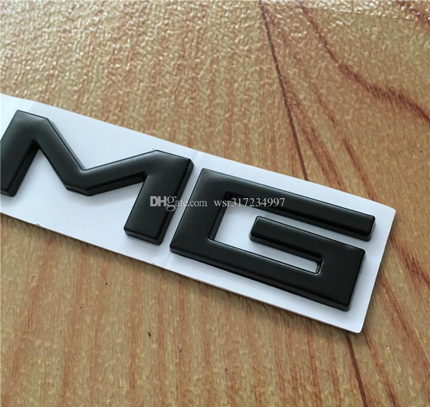 Yüksek kalite 10 adet / grup Metal Gümüş Krom Siyah 3 M AMG Decal Sticker Logo Mercedes CL GL SL için amblem Araba Rozetleri ML A B C E S sınıfı Araba st