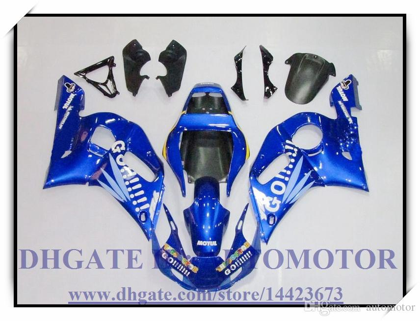 Injection brand new fairing kit 100% fit for YAMAHA YZF R6 1998-2002 YZFR6 1998-2002 1999 2000 2001 YZF R6 98-02 #IR883 BLUE