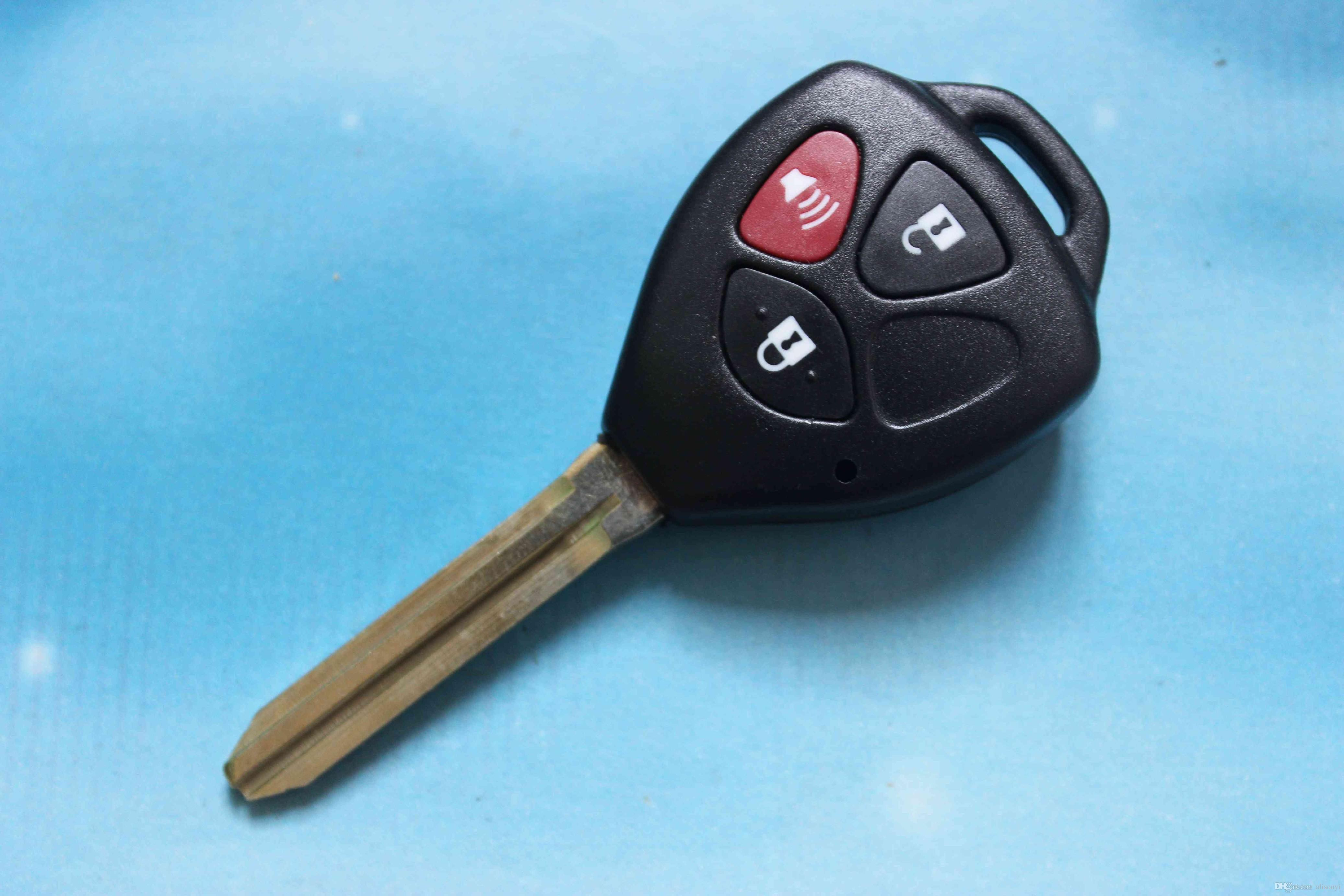 Toy43 Car Key Shell Fob Case 3 Buttons Remote Key Cover Housing Fit
