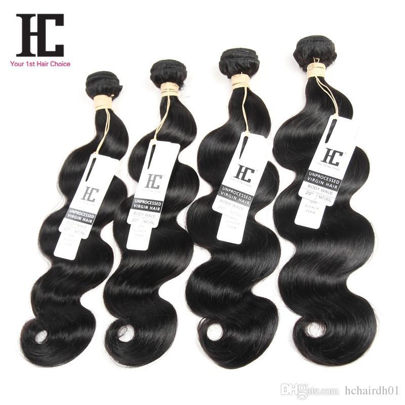 학년 7A 버진 브라질 바디 웨이브 HC 머리카락 브라질 바디 웨이브 인간의 머리카락 묶여 레이스 폐쇄