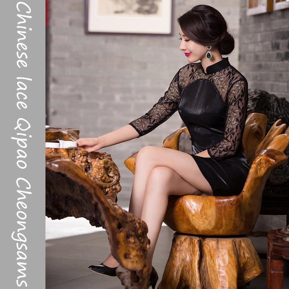 Großhandel Chinesische Spitze Qipao Cheongsams High End Dünne Dünne ...