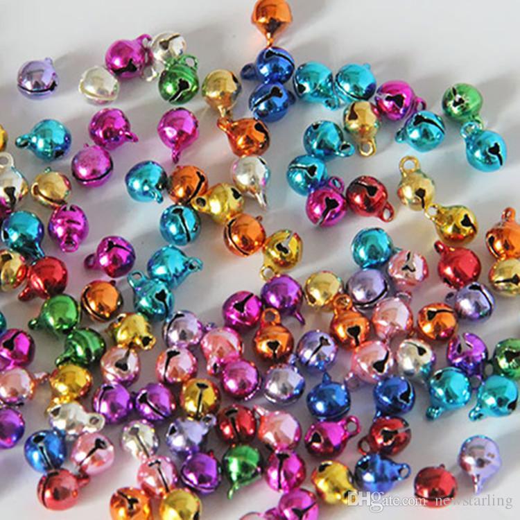 Petite Taille Jingle Bells DIY Bijoux Accessoires Charms Perles Pendentifs 6mm 8mm 10mm Arbre De Noël Ornements Décorations De Noël