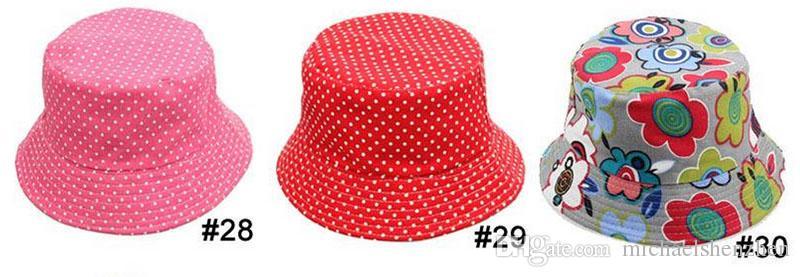 i bambini secchiello cappello casual fiore sole stampato bacino di tela topee cappelli bambini bebè berretti B001