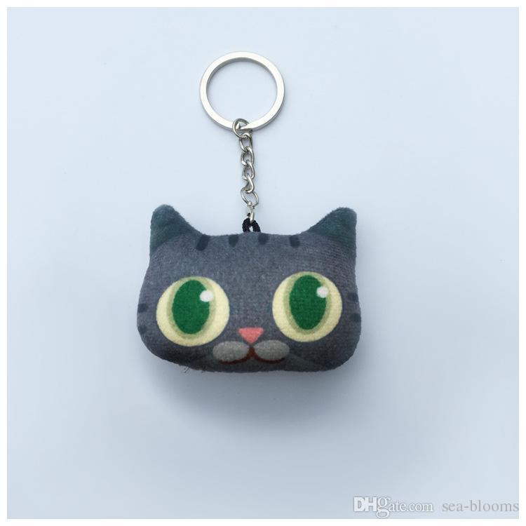 Animali Portatili all'ingrosso Gatto creativo Portachiavi Ciondolo chiave regalo di moda Bella ragazze portachiavi Supporto FBA Spedizione D336S