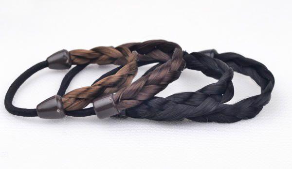 Forcina capelli Coreano Anello capelli Anello intrecciato elastico Tonytail Avvolgere Fascia capelli Accessori di fissaggio Copricapo sintetico Porta coda di cavallo Gioielli capelli