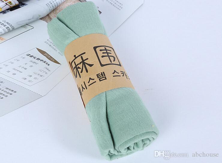 Écharpe en coton élégant pour femmes avec châle surdimensionné, couleurs pures, pashmina